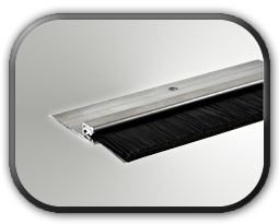 Black Nylon Brush in Flat Aluminum  Holder