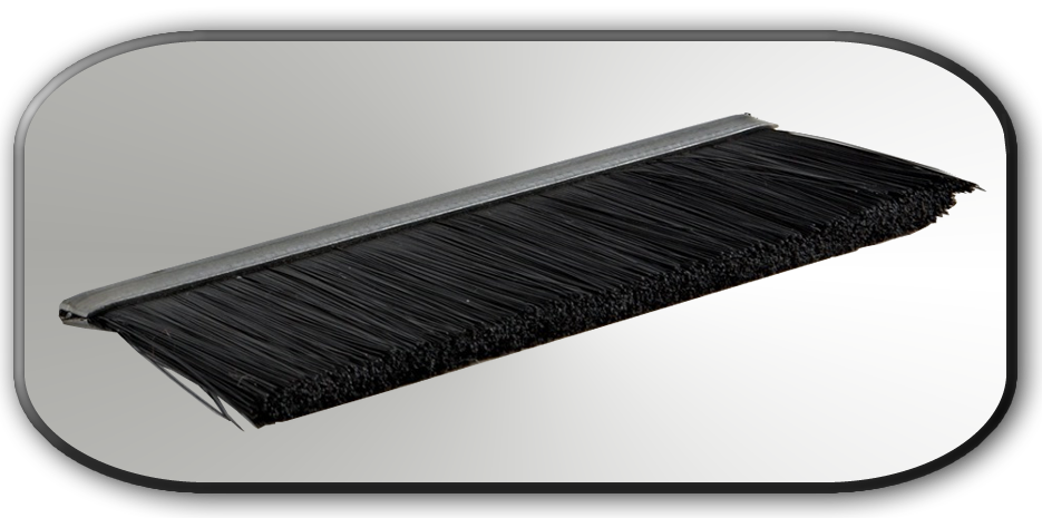 "Black Nylon Brush 1/4"" Backing"